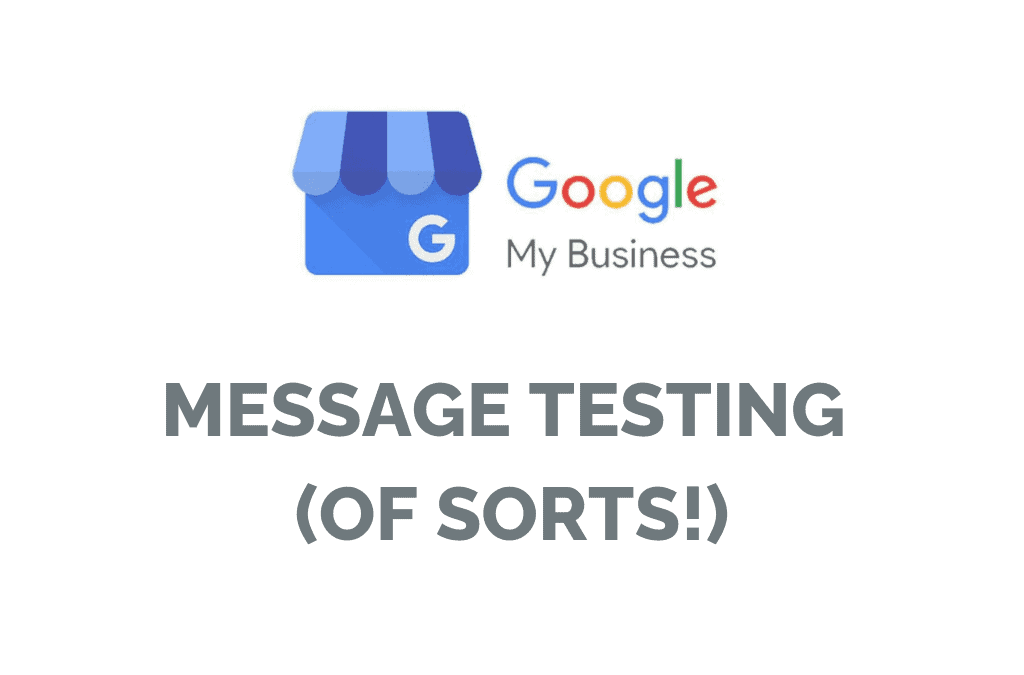 GMB Messaging Test